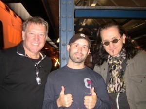 Joel Martin with Legendary Rock Band Rush
