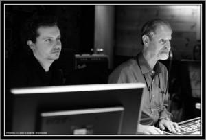 Chris Crerar and Eddie Kramer in Metalworks Studios .